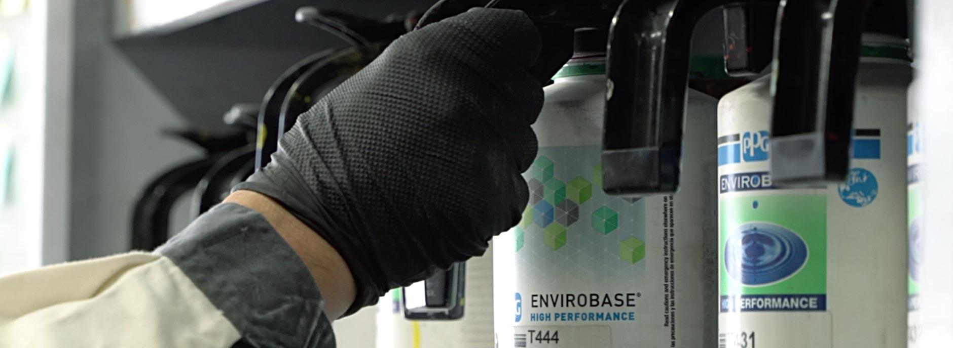 水性塗料の導入